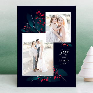 berry winter foliage Holiday Photo Cards
