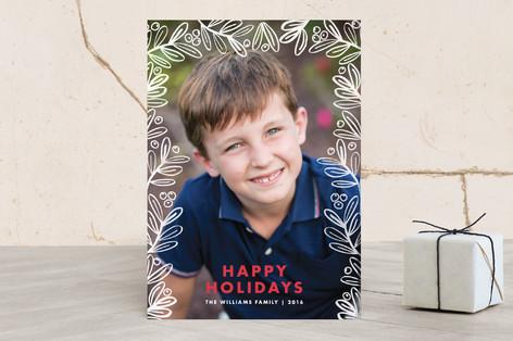 Gilded Foliage Holiday Photo Cards