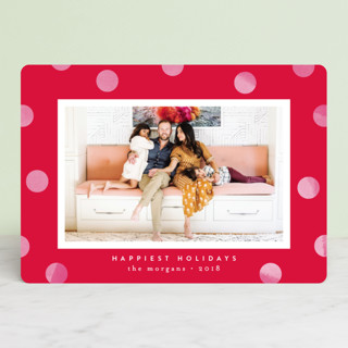 Statement Dots Holiday Photo Cards