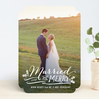 Married and Merry Holiday Photo Cards