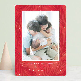 tidings of love Holiday Photo Cards