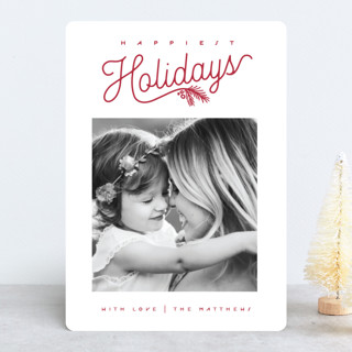 Happiest Holidays Script Holiday Photo Cards