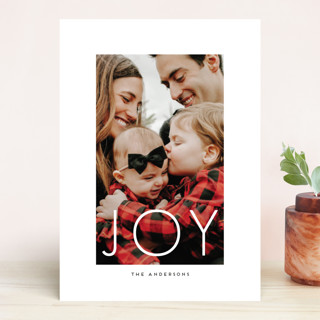 White Out Holiday Photo Cards
