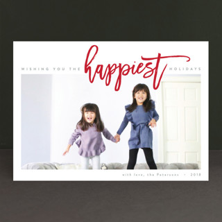 The Happiest Holiday Holiday Photo Cards