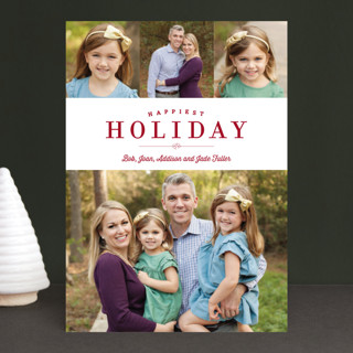 Sparkling Border Holiday Photo Cards
