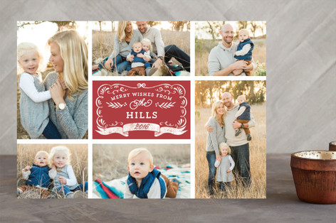 Apothecary Label Holiday Photo Cards