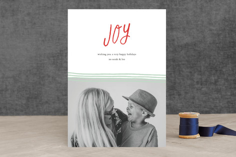 sketched joy Holiday Photo Cards