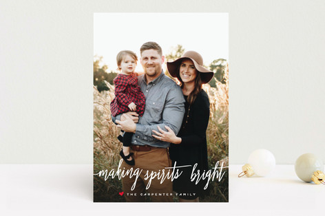 Spirits so Bright Holiday Photo Cards