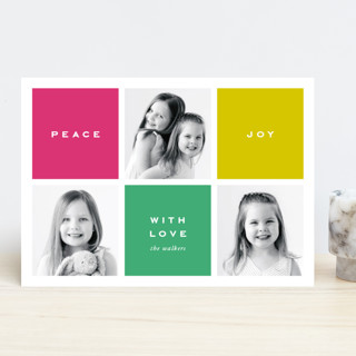Preppy Blocks Holiday Photo Cards