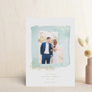 Gilden Frame Foil-Pressed Save the Date Petite Cards