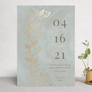 Clarity Foil-Pressed Save The Date Cards