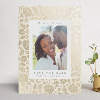 lace love Foil-Pressed Save The Date Cards