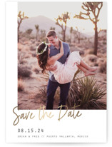 Playful Foil-Pressed Save The Date Cards