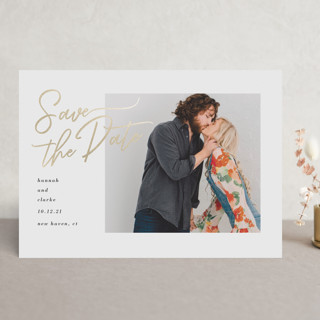 The Best Day Foil-Pressed Save The Date Cards
