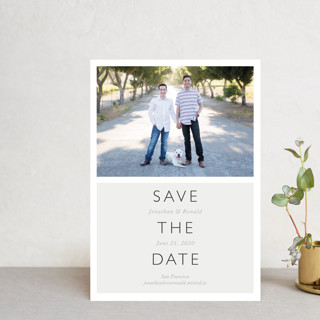 Modern Date Save the Date Petite Cards