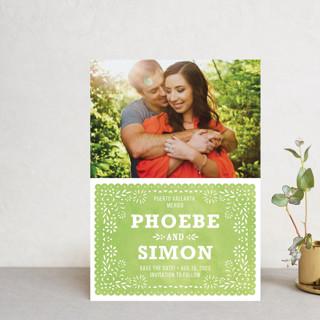 Fiesta Folk Art Save the Date Petite Cards