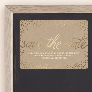 Starlight Foil-Pressed Save the Date Magnets