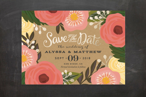 Floral Canopy Save The Date Postcards