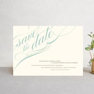 Winter Flourish Save The Date Postcards