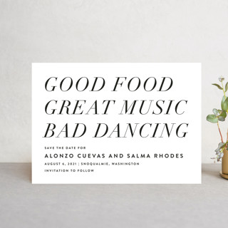 Bad Dancing Save The Date Postcards