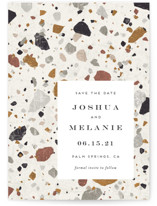 Terrazzo Save The Date Postcards