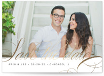 Fancy Foil-Pressed Save the Date Postcards