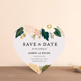 Classic Floral Save The Date Cards