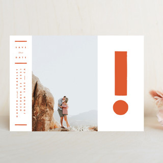 The Exclamation Save The Date Cards