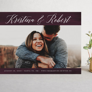 Plum Paint Grand Save The Date Cards