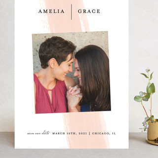 Single Swath Grand Save The Date Cards