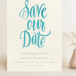 Painted Simplicity Grand Save The Date Cards