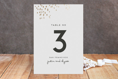 Let Love Shine Foil-Pressed Wedding Table Numbers