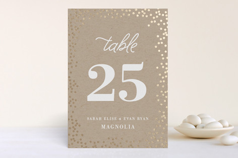 Starlight Foil-Pressed Wedding Table Numbers