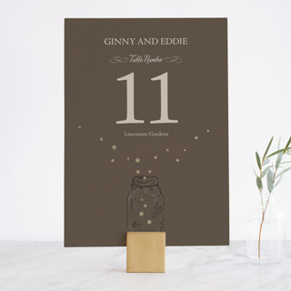 Fireflies Foil-Pressed Wedding Table Numbers