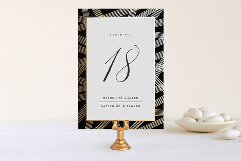 Gold Notes Foil-Pressed Wedding Table Numbers