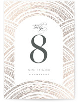 Curvilinear Foil-Pressed Table Numbers
