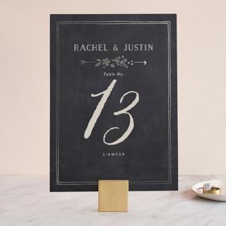 Alabaster Florals Foil-Pressed Wedding Table Numbers