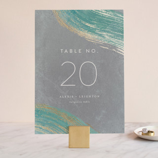 Abstract Splendor Foil-Pressed Wedding Table Numbers
