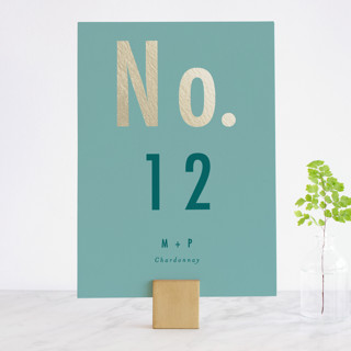 Oui Foil-Pressed Wedding Table Numbers