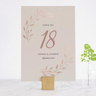 Vineyard Foil-Pressed Wedding Table Numbers