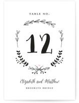 Always Wedding Table Numbers