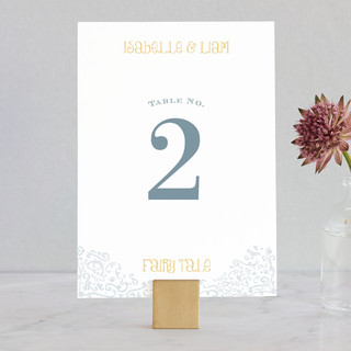 Once Upon Wedding Table Numbers