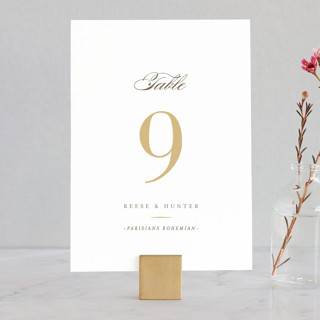 Valencay Wedding Table Numbers