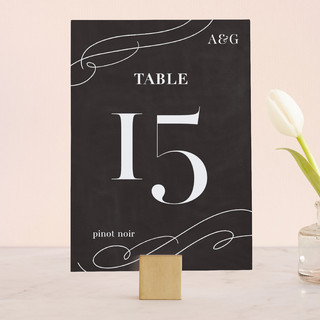 Formal Glamour Wedding Table Numbers