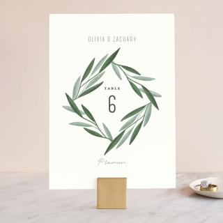 Oliviers Wedding Table Numbers