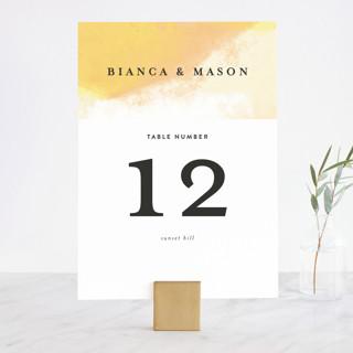Upper Block Wedding Table Numbers