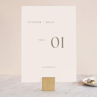 Juniper Wedding Table Numbers