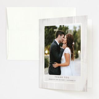 Gilded Woodgrain Gloss-Press™ Thank You Cards