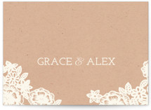 Lace and Kraft Thank You Postcards