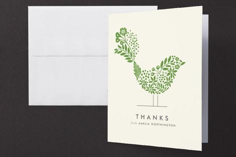 Floral Fringe Folded Thank You Card